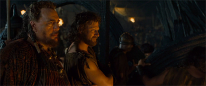 Sean Bean's Odysseus goes from